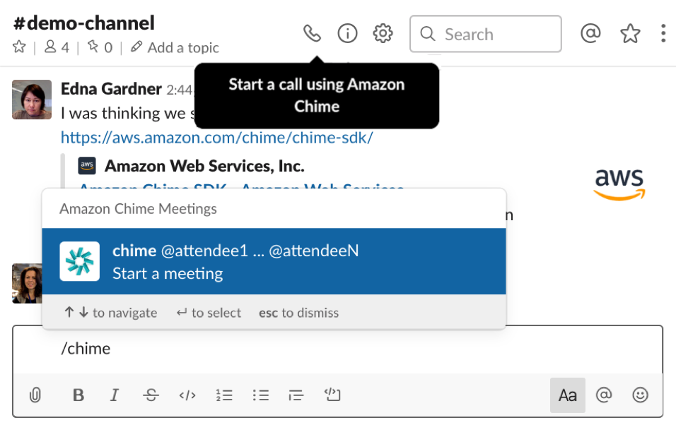 Amazon Chime Slack Image 1