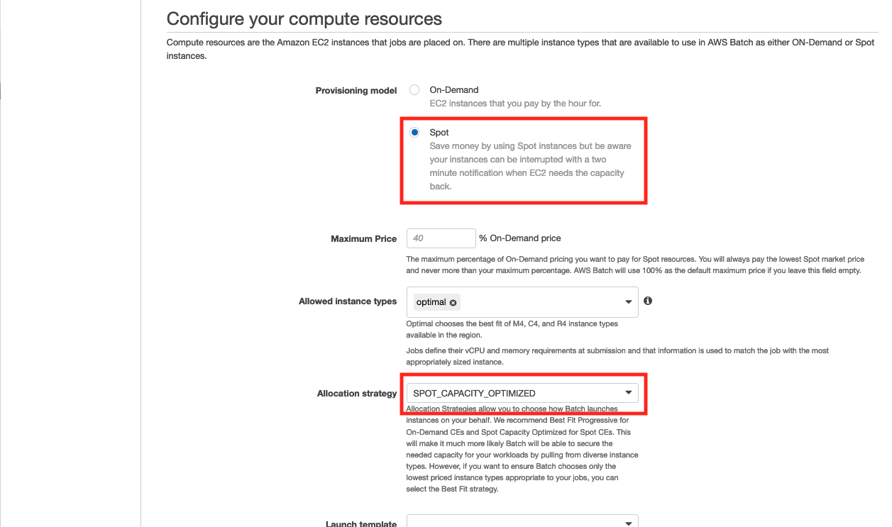 Configure your compute resources
