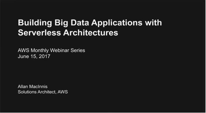 Building Big Data Applications