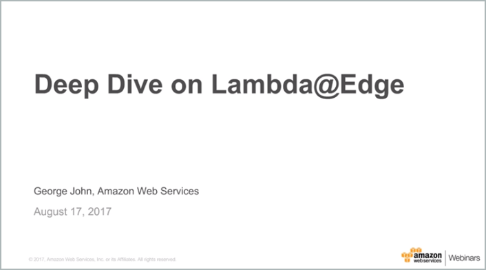 Deep Dive on Lambda@Edge