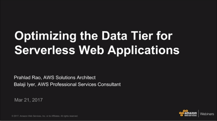 Optimizing Data Tier Serverless Web Apps