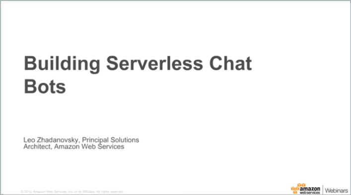 Serverless Chat bot