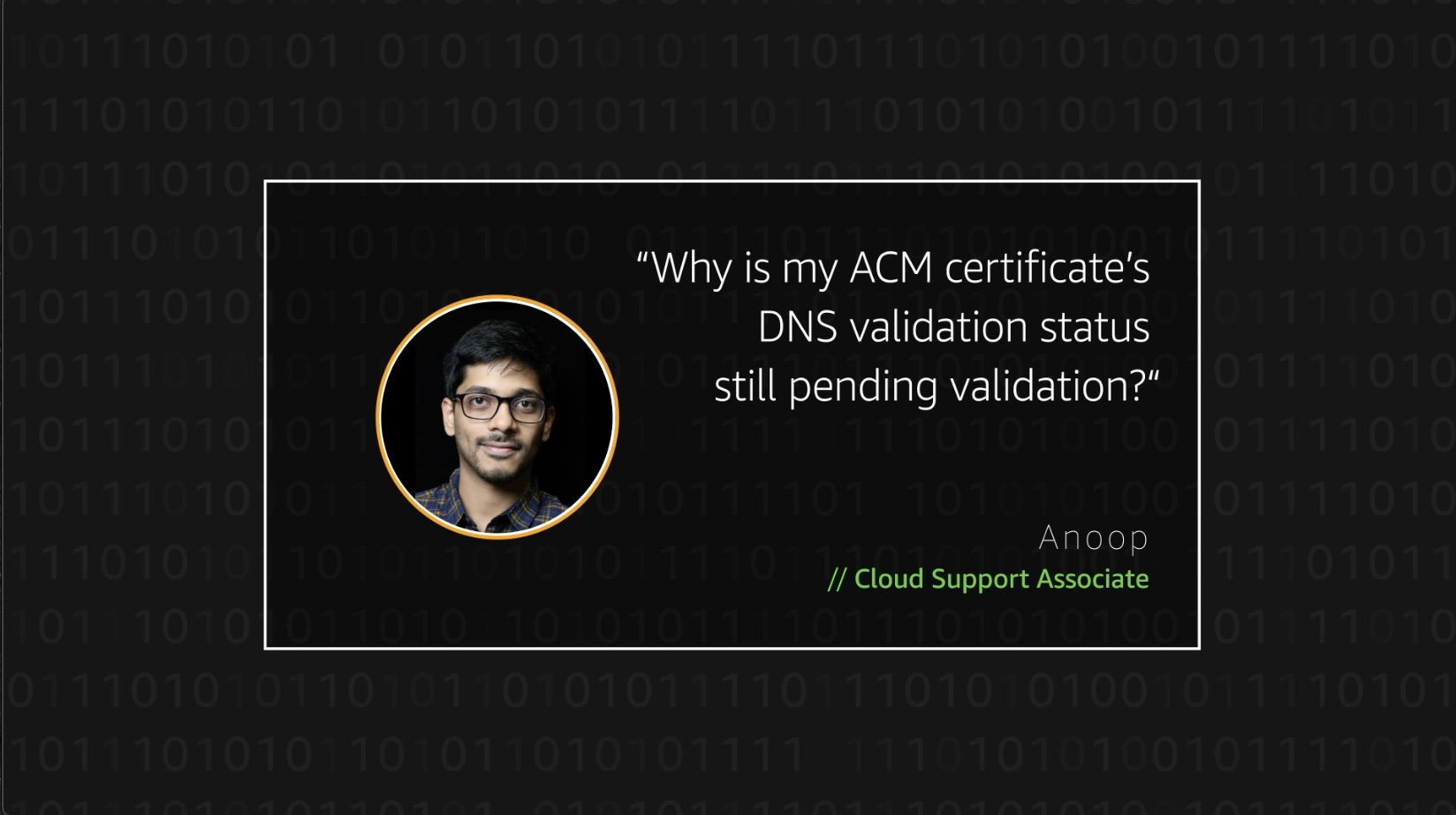 Watch Anoop's video to learn more