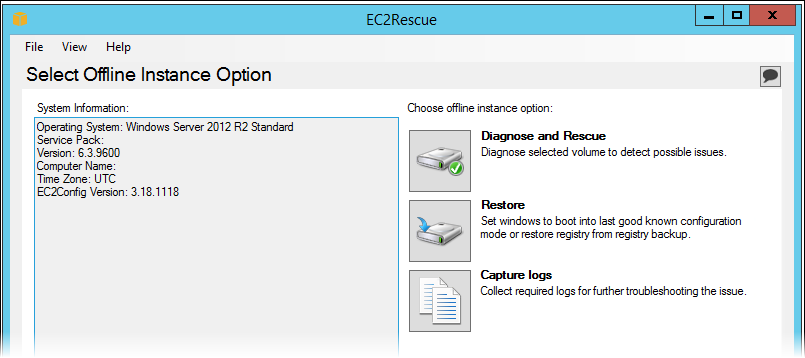 Use EC2Rescue to Troubleshoot EC2 Windows Issues