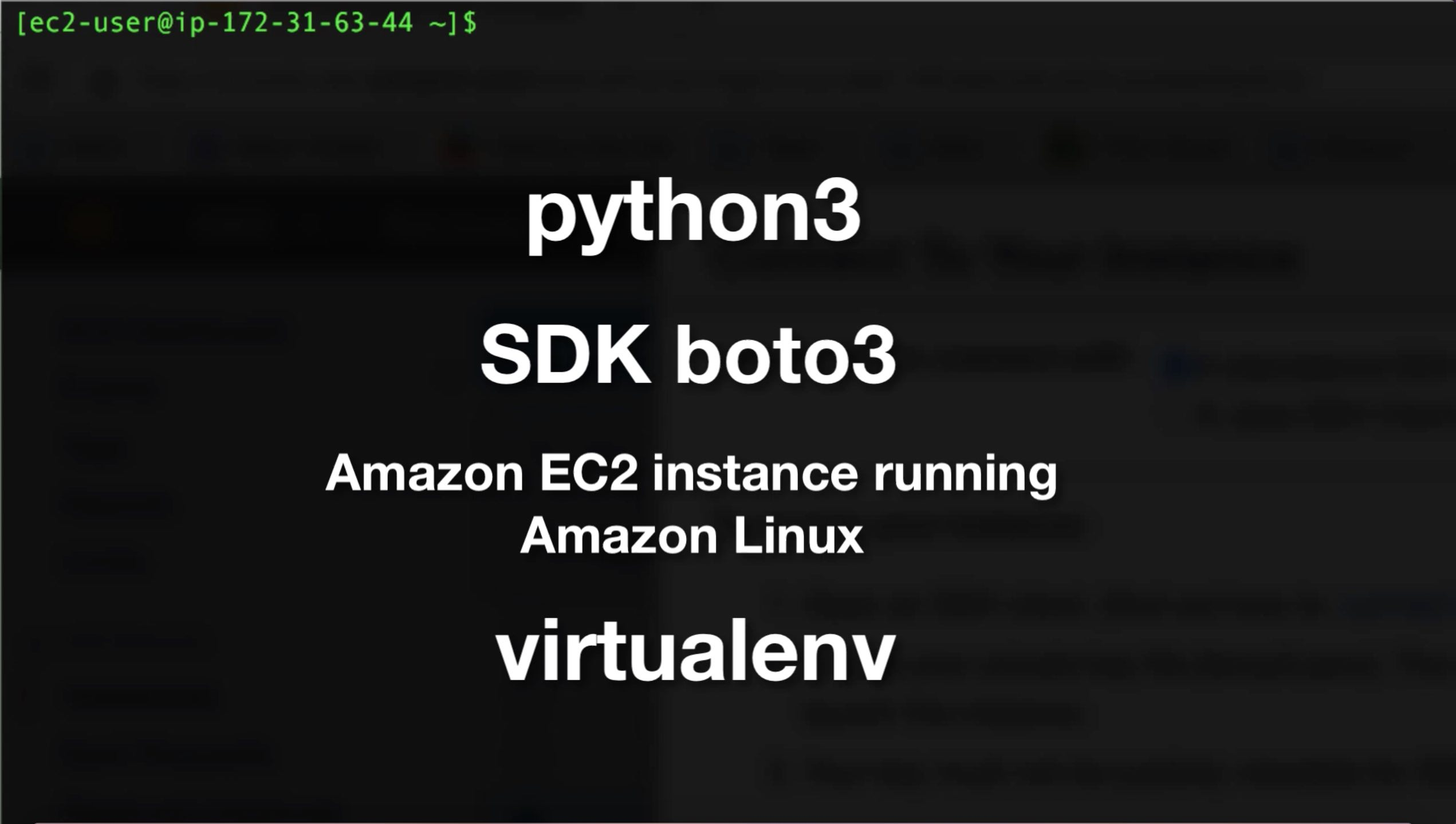 Create an isolated Python 3.4 environment with Boto 3 on EC2 using virtualenv