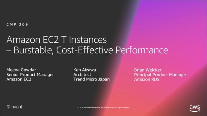 2018 re:Invent EC2 T3 Instances