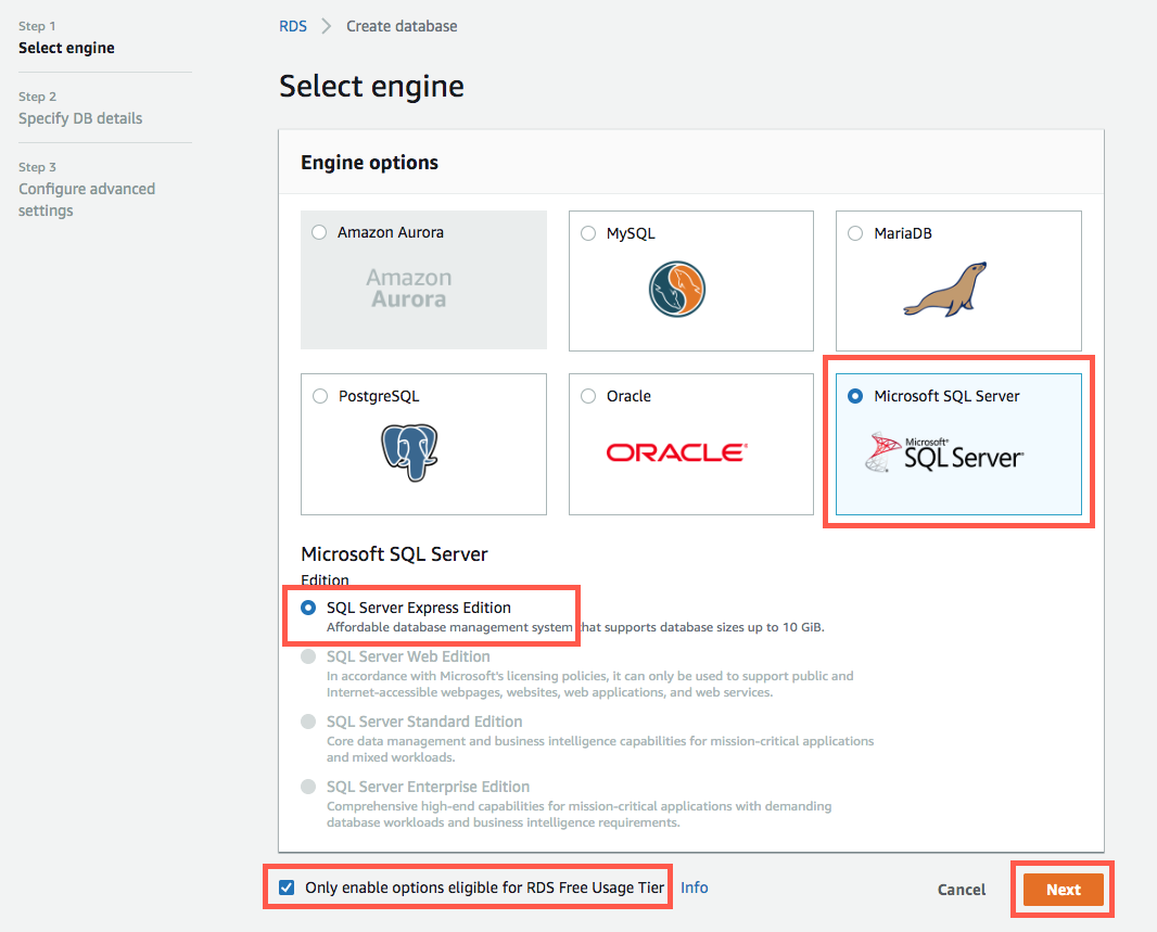How to Create a Microsoft SQL Server DB – AWS