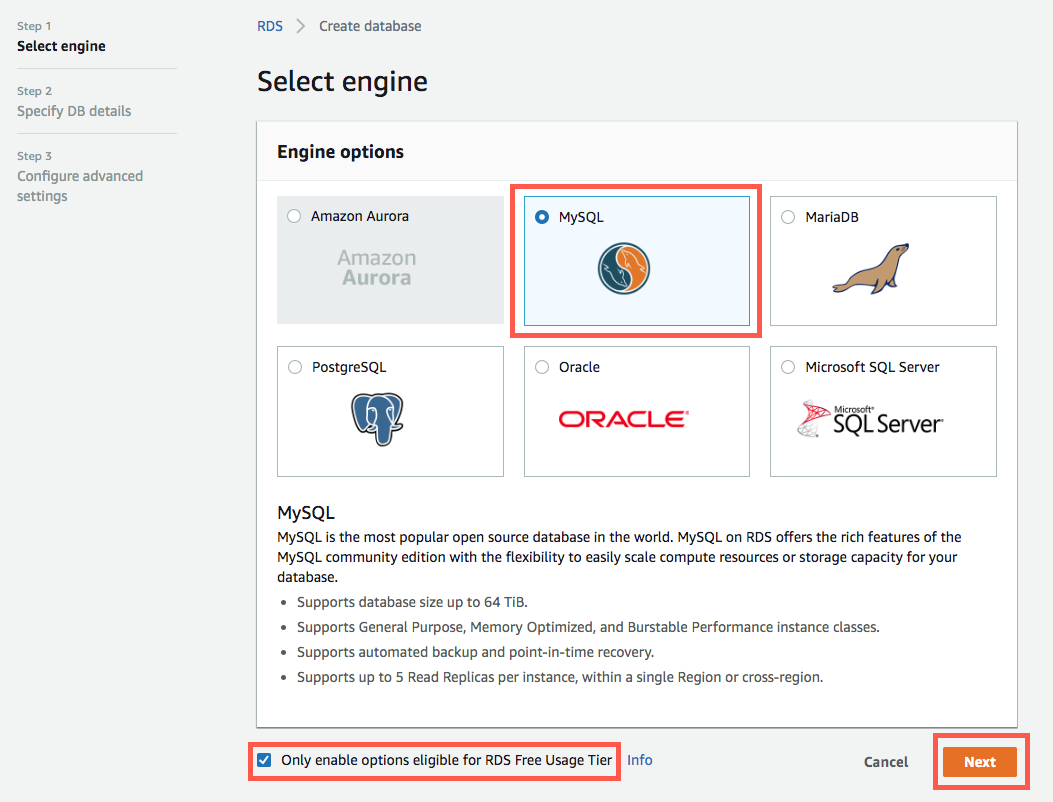 How to Create a MySQL Database – Amazon Web Services