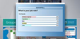 image of live instructor poll in virtual classroom