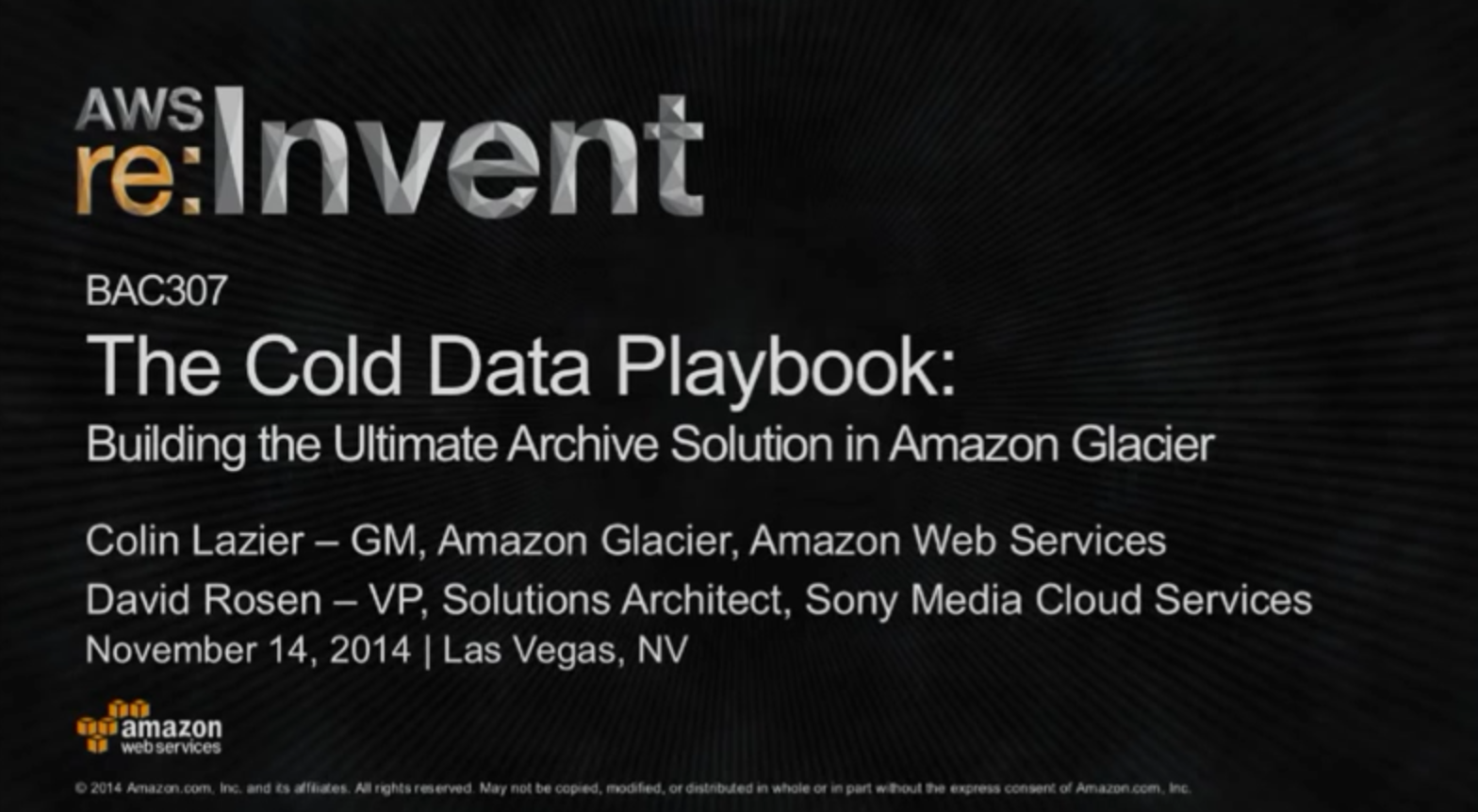 Glacier Cold Data Playbook