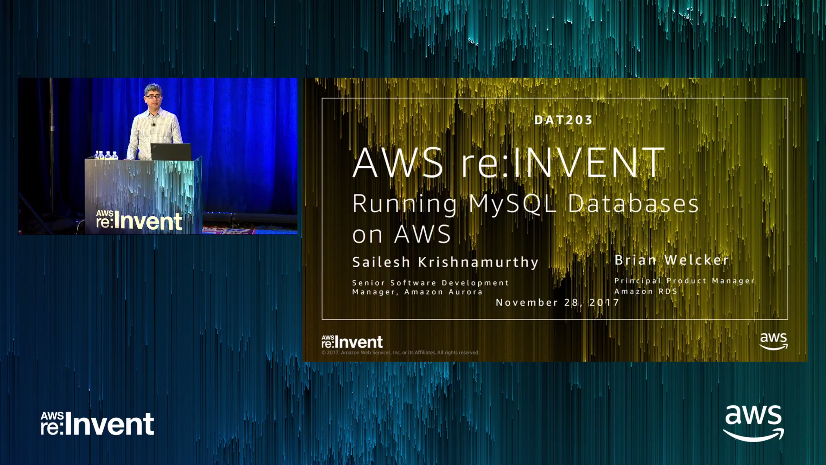 Running MySQL on AWS reInvent 17