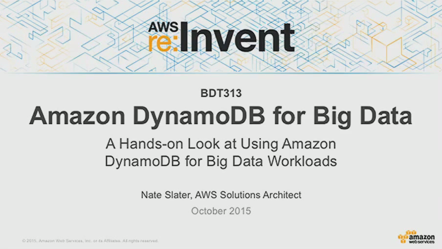 Amazon DynamoDB for Big Data