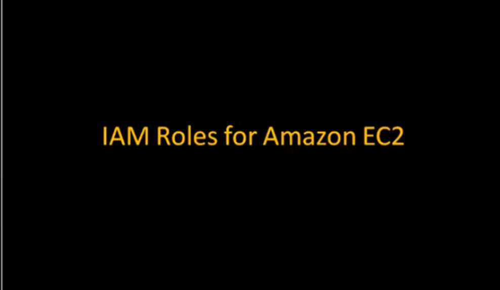 Getting Started with EC2 Roles