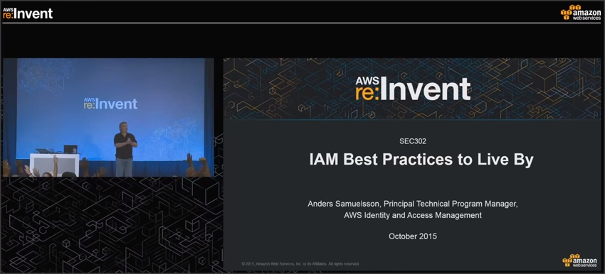 IAM Best Practices to Live By from re:Invent 2015