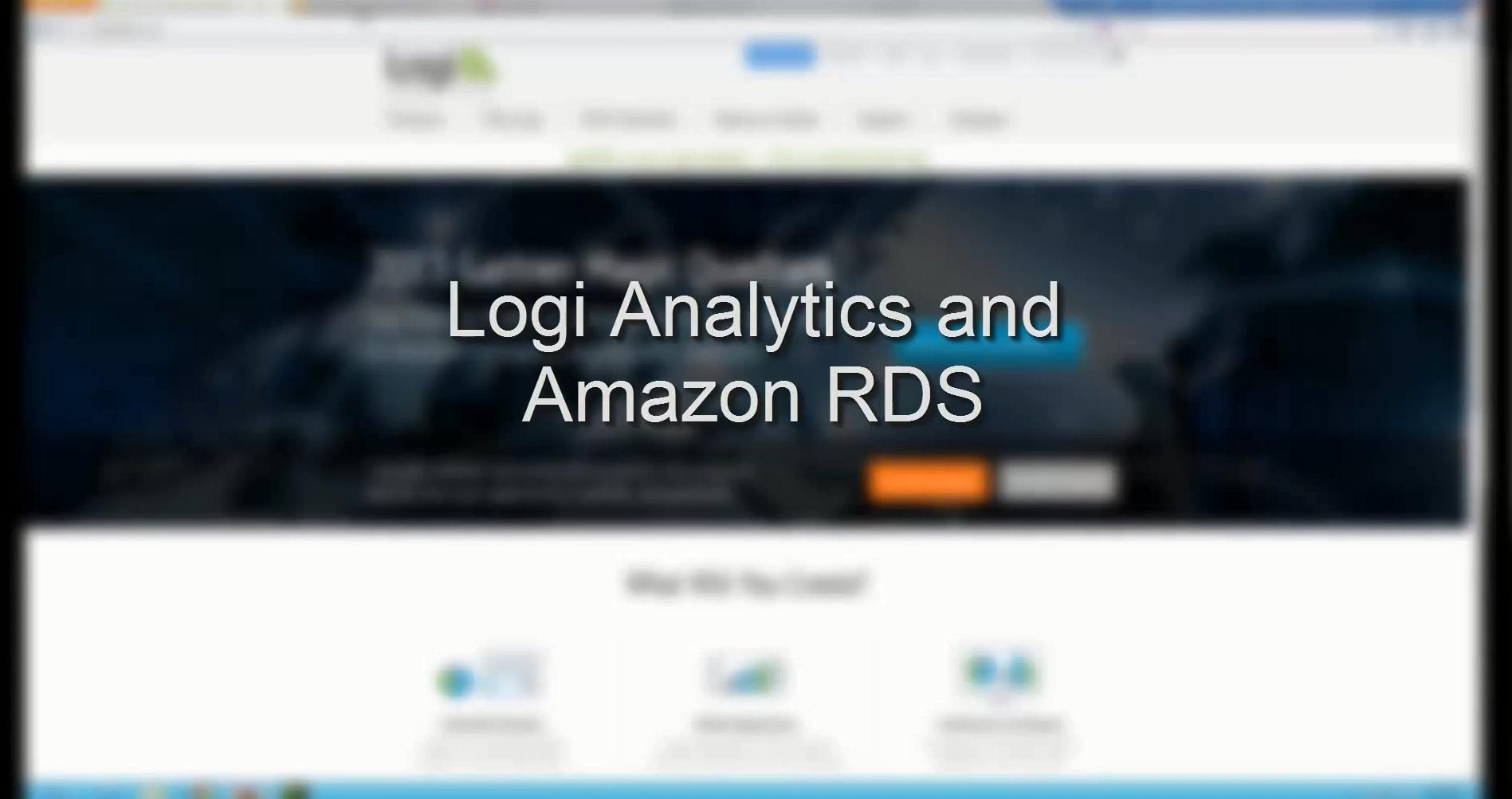 apn amazon rds partners logi analytics