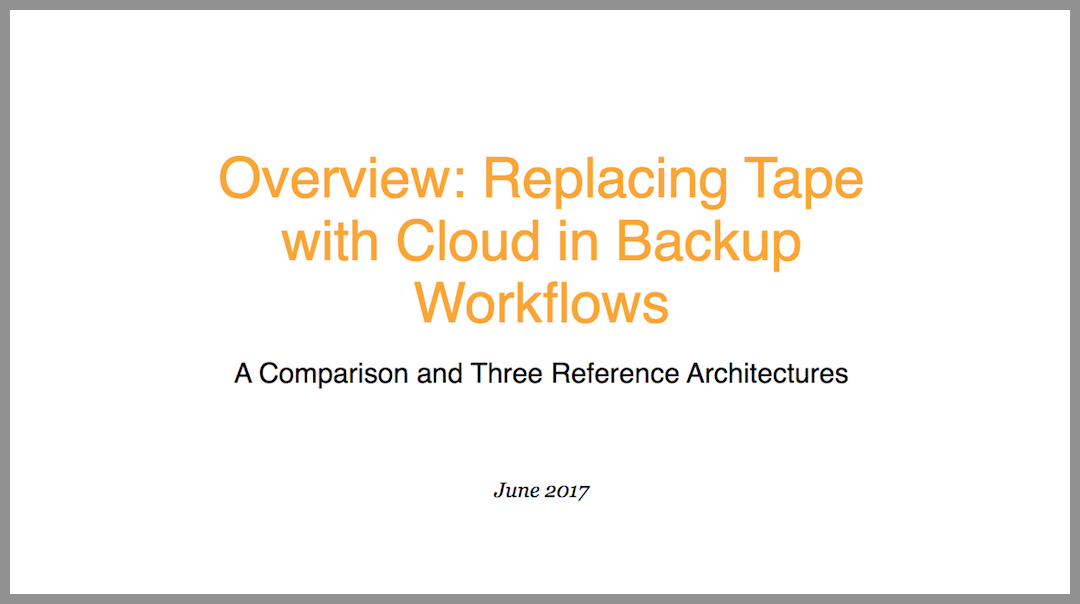 Whitepaper: Sostituire i backup su nastro con il cloud nei flussi di backup
