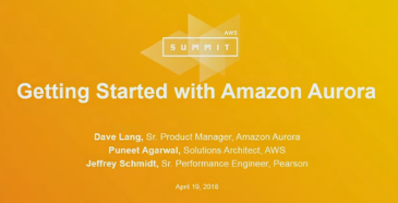 影片:Getting Started with Amazon Aurora
