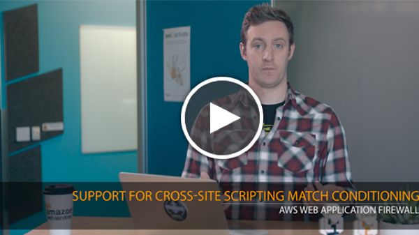 21-AWS Web Application Firewall Support for Cross-Site Scripting Match Conditioning_play