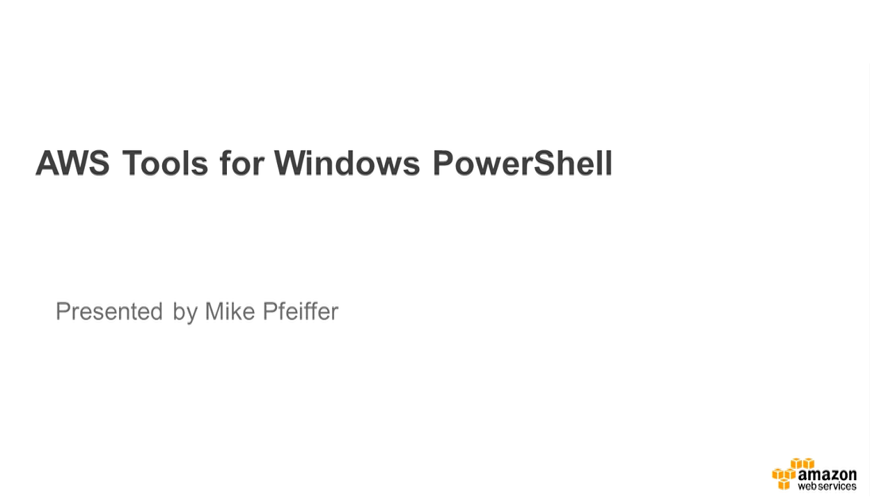 AWS Tools for PowerShell Webinar