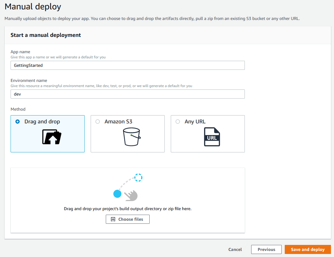 full-stack amplify console module one AmplifyManualDeploy